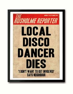 The Smiths 'Death Of A Disco Dancer'  Poster Art by indieprints