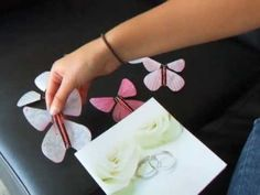 Unique DIY wedding invitation with flying paper butterflies - by Magic Flyer
