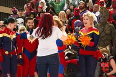 I friggen lost my mind when Kelly Sue DeConnick showed up at the Marvel shoot at DragonCon. Contagious Costuming caught my uncontrollable fangirling. I am not ashamed. Crazy Costumes, Lose My Mind, Thats The Way, Captain Marvel, Fangirl, Sci Fi, Geek Stuff, Lost, Cosplay