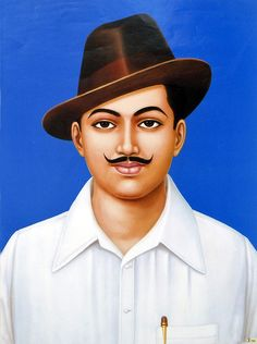 Shaheed Bhagat Singh - An Indian Nationalist (Reprint on Paper - Unframed)