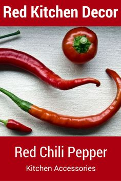 Red Chili Pepper Kitchen Accessories Add Pops Of Color To Your Decor With