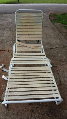 RECYCLE OLD POOL CHAIRS