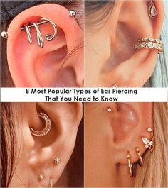 8 Most Popular Types of Ear Piercing That You Need to Know . Piercing types of piercings Minimalist Earrings, Minimalist Jewelry, Types Of Ear Piercings, Silver Earrings, Stud Earrings, Most Popular, Gifts For Wife, Beautiful Hands, Beauty And The Beast
