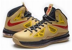 online retailer 12aac feacb Nike Lebron 10 Gold Yellow Red Black0 Sneakers N Stuff, Cheap Sneakers,  Men s Sneakers