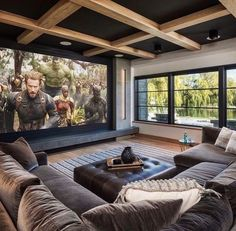 Home Theater Room Design, Home Cinema Room, Home Theater Rooms, Home Interior Design, Home Theatre Lounge, Cinema Room Small, Small Movie Room, Home Theater Basement, Cozy Basement