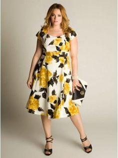 Vestido floral para gordinhas - http://vestidododia.com.br/vestidos-longos/vestidos-longos-para-gordinhas/
