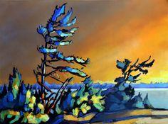 """""""Black bay 2"""" acrylic on canvas  www.werbeland.ca"""