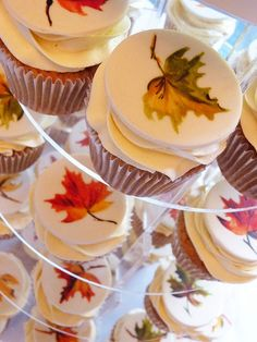 A cupcake tower with a cutting cake for a lovely couple with lots of Canadian links. the cake was chocolate mud and the cupcakes were maple syrup flavour. Amelie, Cupcakes, Cupcake Cakes, Thanksgiving Cookies, Thanksgiving Recipes, Fall Cakes, Little Cakes, Gorgeous Cakes, Sweet Cakes