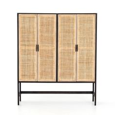 The Labasa Cabinet brings a textural twist and depth of colour contrast to your space. The washed black acacia creates open shelving with ample space and the natural cane weaves cover mango-framed doors. The Labasa sits on a simple Parsons-style base. Studio Furniture, Cane Furniture, House Furniture, Kitchen Furniture, Cabinets For Sale, Cool Mirrors, Amber Interiors, Hardware Pulls, Chula