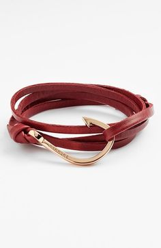 Miansai Rose Hook Leather Bracelet
