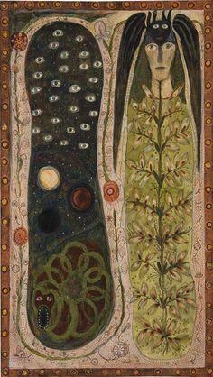 Solange Knopf Augustin Lesage, Art Brut, Naive Art, Medieval Art, Visionary Art, Outsider Art, Art Inspo, Techno, Painting & Drawing