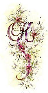 Ink Flourishes: K.....Kouldn't think of a Katchy Kaption
