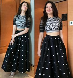 Black Taffeta Silk With Embroidery Work Lehenga Choli Choli Designs, Lehenga Designs, Blouse Designs, Indian Attire, Indian Outfits, Two Piece Evening Dresses, Traditional Skirts, Indian Gowns Dresses, Kurti Designs Party Wear