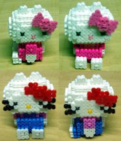 3D Hello Kitty hama beads by Sonia Delcán Moreno