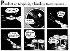 Publiée dans le Bathyscaphe n°7 (automne 2011). Strip n°2.