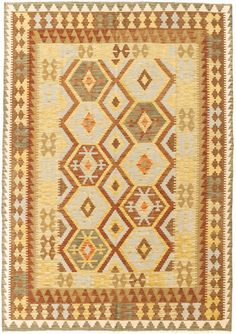 """Alfombra Kilim Herat. Kilim Herat. Kilim anudado a mano con lana autóctona por las tribus """"turkemanas"""" en el norte de Afganistán. Los diseños utilizados son bellas estilizaciones de formas tradicionales como el """"boteh"""", octogonos, rombos engarzados... Kilims, Lana, Bohemian Rug, Rugs, Home Decor, Kilim Rugs, Norte, Shapes, Farmhouse Rugs"""