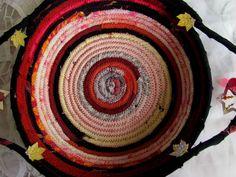 HANDMADE COTTON FABRIC COILED BASKET MULTI COLOR ROPE QUILT SERVING PLATE GIFT #HandmadeBYRIVKAFILIN