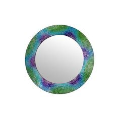 NOVICA Fair Trade India Glass Mosaic Circular Wall Mirror ($165) ❤ liked on Polyvore featuring home, home decor, mirrors, purple, wall decor, glass mirror, circular mirror, novica, handmade home decor and purple home decor