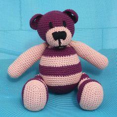 Häkeln Teddy Bär Purpur von Crochetland auf DaWanda.com