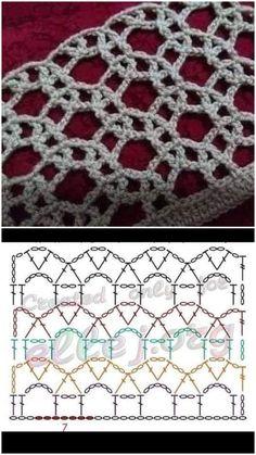 Crochet Stitches Chart, Crochet Stitches For Beginners, Crochet Symbols, Crochet Square Patterns, Crochet Motifs, Crochet Circles, Freeform Crochet, Crochet Diagram, Irish Crochet