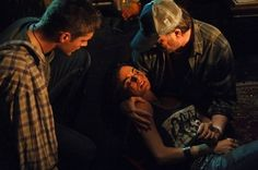 Still of Jensen Ackles, Jim Beaver and Traci Dinwiddie in Supernatural