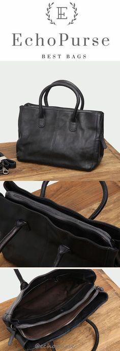 New Arrivel Leather Tote Bag, Vintage Handmade Shoulder bag, Black Fashion Handbag B354 #fashionhandbag #fashionhandbags