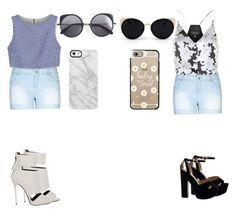 """""""Dynamic duo"""" by xoxo-ily ❤ liked on Polyvore featuring City Chic, Alice + Olivia, Wood Wood, Uncommon, Topshop, Una-Home, Casetify, Giuseppe Zanotti, Summer and twins"""