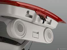 Dodge Caliber tailgate speakers