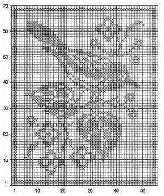 Crochet Birds, C2c Crochet, Crochet Doilies, Crochet Stitches, Crewel Embroidery, Cross Stitch Embroidery, Cross Stitch Designs, Cross Stitch Patterns, Fillet Crochet