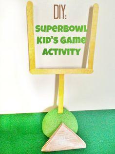 DIY Superbowl Kid's Paper Football Game activity