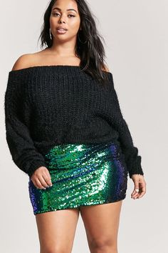 876c8c43a16 Forever 21. Plus Size Sequin SkirtPlus Size Mini ...