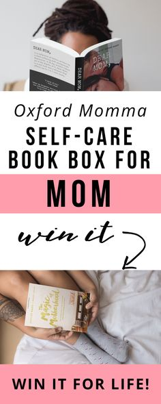 """Oxford Momma is a new self-care monthly book box just for moms! Each box contains a bestselling book for moms along with 3 or more self-care items for your """"me"""" time pampering routine. Take time for yourself each month! #selfcare #selflove Enter the giveaway now to win it FREE FOR LIFE! via @momgoesmental"""