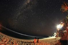 Indrayanti Beach at night.. Beautiful sky..