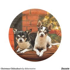 Christmas Chihuahua's 7 Inch Paper Plate