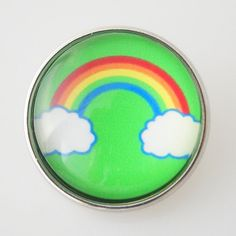 Lucky Rainbow Glass Button Bead Charm Noosa Snap On 20mm Chunk – Your Charmed Story