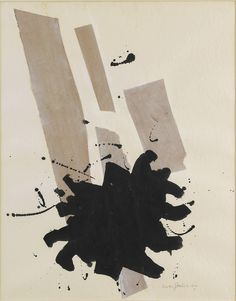 """ADOLPH GOTTLIEB, PACE , 1970. Collage and ink on paper, 24"""" x 19"""" (61 cm x 48.3 cm)."""