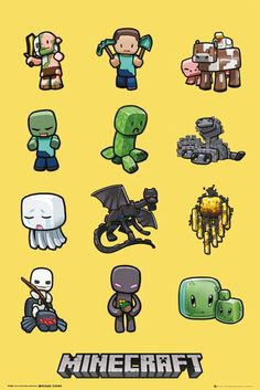 Brand New #Minecraft #Poster http://www.gbposters.com/general/gaming/Minecraft-Characters-Maxi-Poster