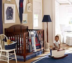 PB KIDS Catalina Fixed Gate 3-in-1 Crib: Designed to grow with your child, this three-in-one design transitions from crib, to toddler bed, to full-sized headboard. $500