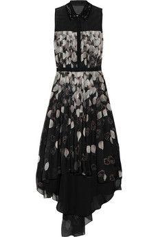 Jason Wu Spring 2012 RTW Black & White Petal Print Dress
