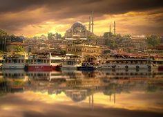 Port, Istambuł, Meczet, Hagia, Sophia, Turcja