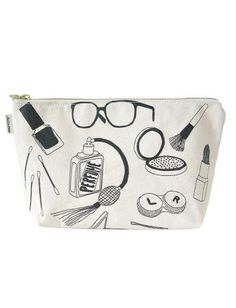 $35 Maptote - White Makeup Pouch