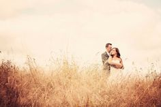 Wheatfield Ceremony :  wedding casual ceremony diy field gold ivory lace pink purple vintage wheatfield Wheat
