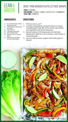 Sheet Pan Fajita Chicken Wraps Take Shape For Life Lean And Green Meals Lean Recipes Medifast Recipes Healthy Living Recipes Skinny Recipes Low Carb Recipes Chicken Reci. Medifast Recipes, Low Carb Recipes, Diet Recipes, Cooking Recipes, Healthy Recipes, Lean Recipes, Skinny Recipes, Chicken Recipes, Recipes