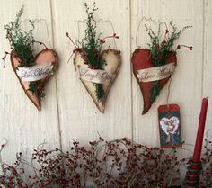 Primitive Valentine Crafts   road primitives this set will come to you signed dated and tagged with ...