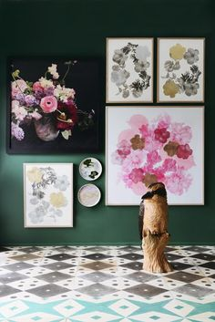 Bonnie and Neil's new range: Botanical - The Interiors Addict Bonnie And Neil, Colorful Artwork, Interior Photography, House And Home Magazine, Botanical Art, Spring Flowers, Home Art, Flower Art, Illustration Art
