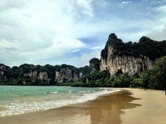 Railay Beach, Krabi, Thailand-famous for rock climbing