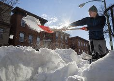 Cleaning up the midstate after record-breaking blizzard, Mechanicsburg residents dig out after the blizzard on Sunday, January 24, 2015.   Daniel Zampogna, PennLive