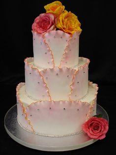Ruffles - Buttercream cake with fondant panels