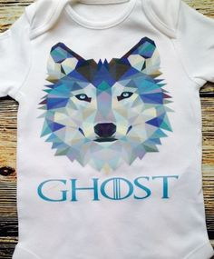 Ghost- #wolf- jon snow - game of #thrones inspired cute  baby #clothes - baby gif,  View more on the LINK: 	http://www.zeppy.io/product/gb/2/262828349126/
