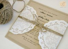 Beautiful, simple and elegant Wedding Invitations - We are based in Australia but deliver worldwide. We specialise in handmade wedding invites and matching wedding stationery. Mexican Wedding Invitations, Handmade Wedding Invitations, Elegant Wedding Invitations, Wedding Stationery, Invites, Rustic Invitations, Stationery Design, Doily Wedding, Wedding Card